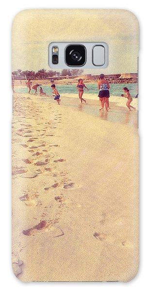 Bahamas Galaxy Case - Foot Steps To Beach Fun by Susan Stone