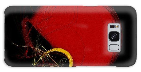 Football Helmet Red Fractal Art 2 Galaxy Case