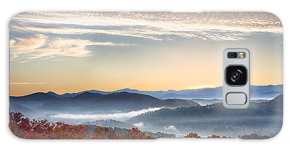 Foothills Parkway Fall Morning Galaxy Case