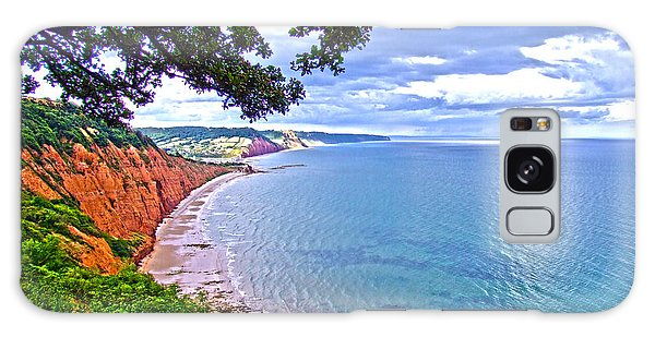 Footpath To Sidmouth Galaxy Case by Andrew Middleton