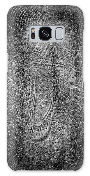 Footprint Of Unknown Person Galaxy Case