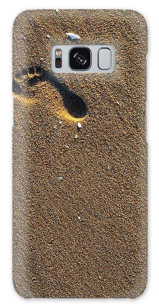 Footprint On Beach Galaxy Case