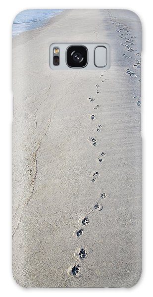 Footprints And Pawprints Galaxy Case