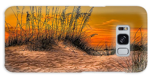 Footprints In The Sand Galaxy Case by Marvin Spates