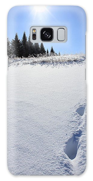 Footprints In The Snow Galaxy Case by Penny Meyers