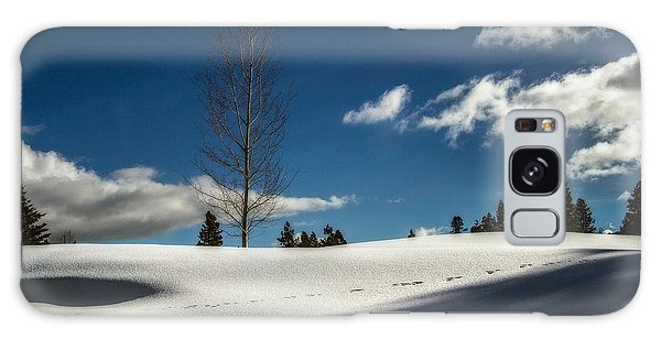 Footprints In The Snow Galaxy Case by Randy Wood