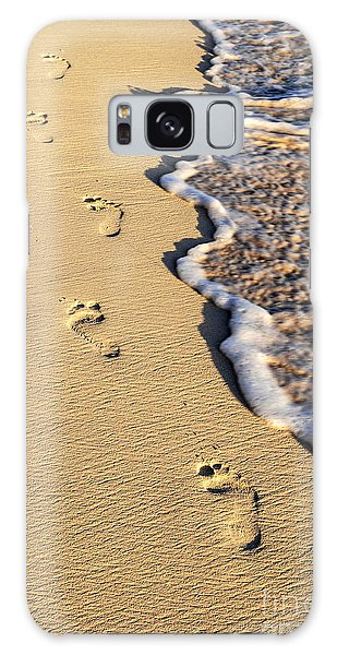 Beach Galaxy S8 Case - Footprints On Beach by Elena Elisseeva
