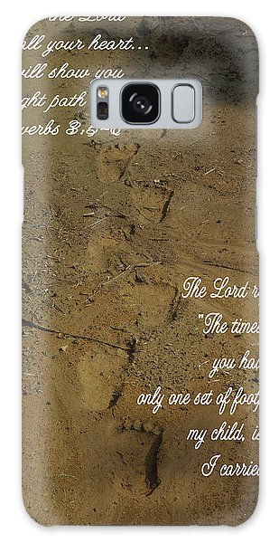Footprints Proverbs Galaxy Case by Robyn Stacey