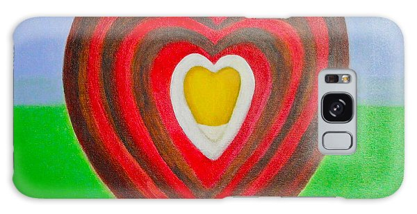 Footsteps And Friendship And The Golden Heart Galaxy Case by Lorna Maza