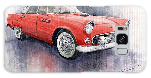 Car Galaxy S8 Case - Ford Thunderbird 1955 Red by Yuriy Shevchuk