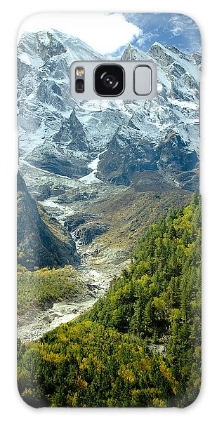Forest And Mountains In Himalayas Galaxy Case