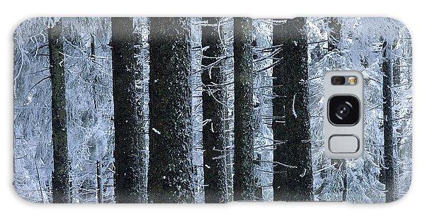Cold Day Galaxy Case - Forest In Winter by Bernard Jaubert