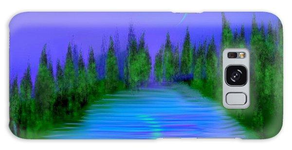 Forest Lake. Night. Galaxy Case by Dr Loifer Vladimir
