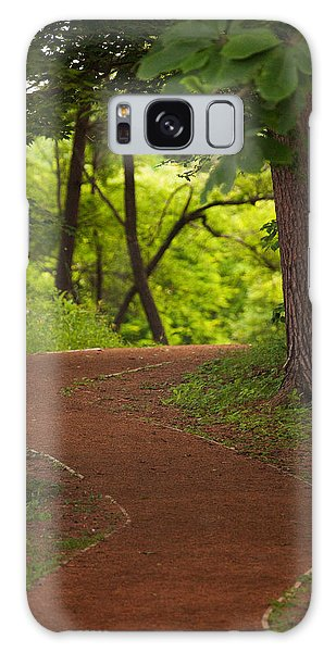 Galaxy Case featuring the photograph Forest Path by Brad Brizek
