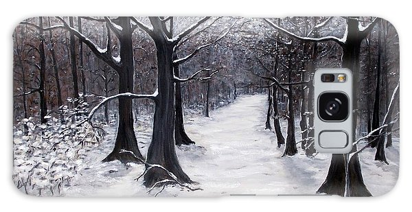 Forest Path In Winter Galaxy Case
