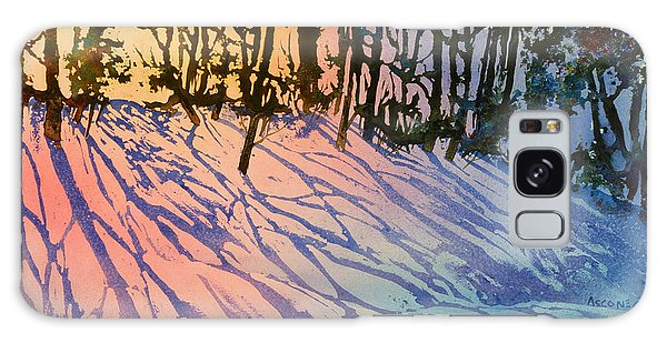 Forest Silhouettes Galaxy Case by Teresa Ascone