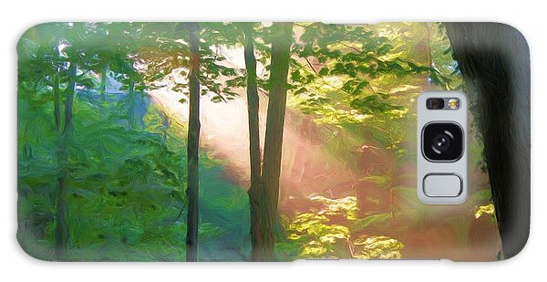 Forest Sunbeam Galaxy Case by Dennis Lundell
