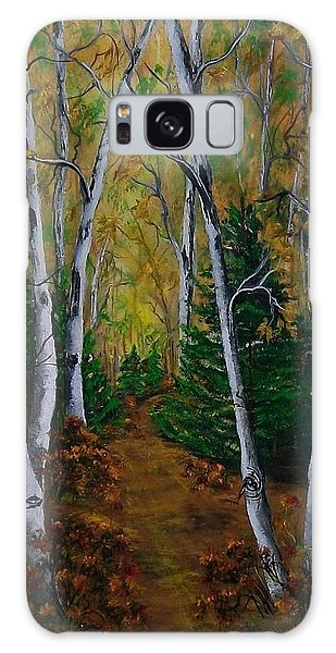 Birch Tree Forest Trail  Galaxy Case
