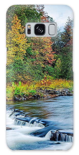Foretelling Of A Storm Beaver's Bend Broken Bow Fall Foliage Galaxy Case