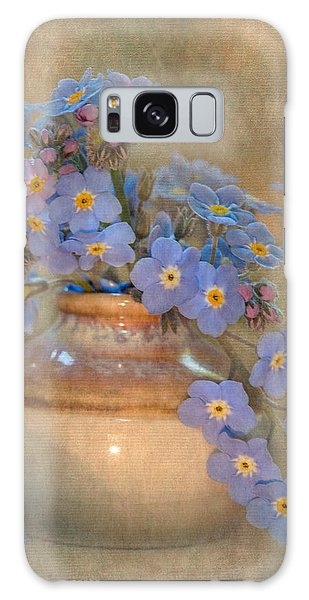 Vase Of Flowers Galaxy Case - Forget Me Not Bouquet by Angie Vogel