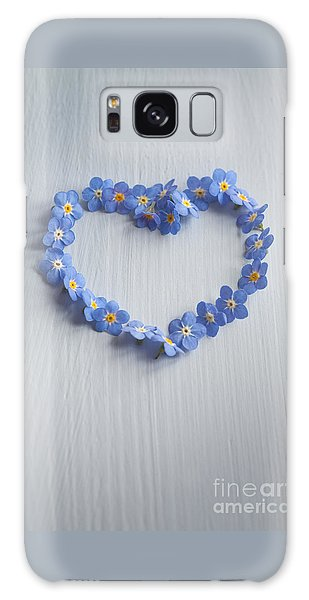 Forget Me Not Heart Galaxy Case