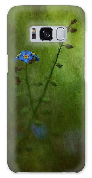 Forget Me Not Light Space Time Botanicals Art Exhibition 2014 Special Merit Award Galaxy Case by Simone Ochrym