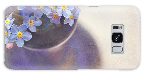 Forget Me Nots In Blue Vase Galaxy Case