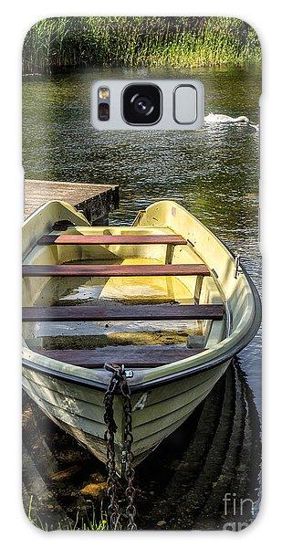 Swan Boats Galaxy Case - Forgotten Boat by Adrian Evans
