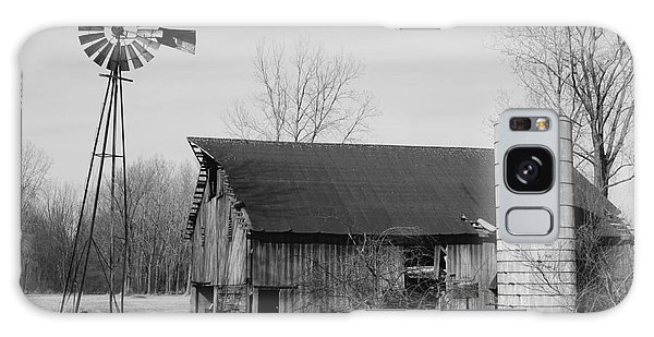 Forgotten Farm In Black And White Galaxy Case by Judy Whitton