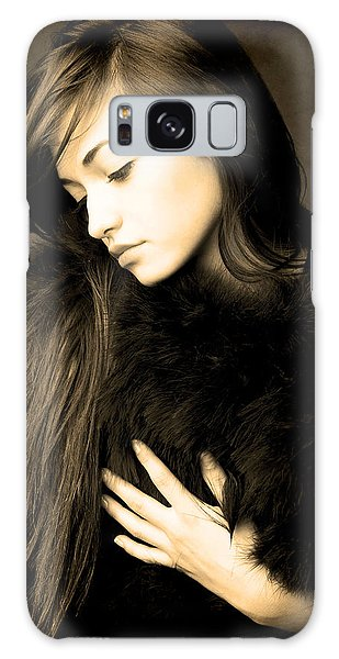 Forlorn Woman Galaxy Case