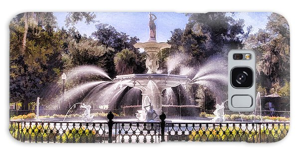 Forsyth Park Fountain Galaxy Case by Linda Blair