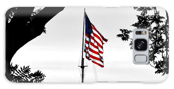 Fort Mchenry Flag Color Splash Galaxy Case by Bill Swartwout