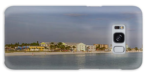 Fort Myers Beach Panorama Galaxy Case by Anne Rodkin