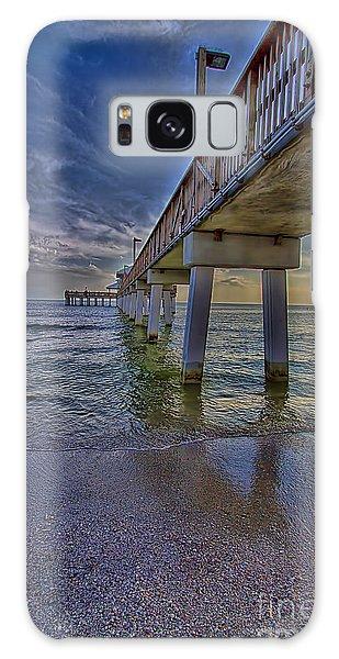 Fort Myers Beach Pier Galaxy Case by Anne Rodkin