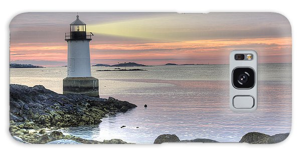 Fort Pickering Lighthouse At Sunrise Galaxy Case