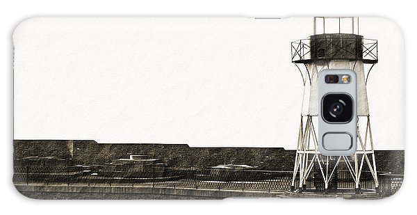 Fort Point Lighthouse Galaxy Case by Holly Blunkall