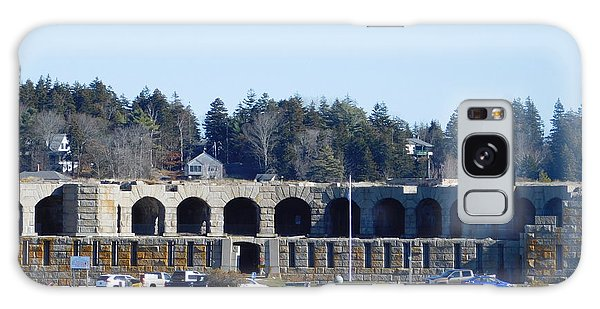 Fort Popham In Maine Galaxy Case by Catherine Gagne