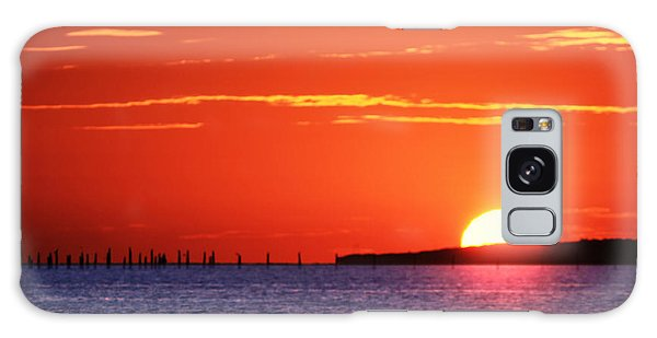 Fort Story Sunrise Galaxy Case