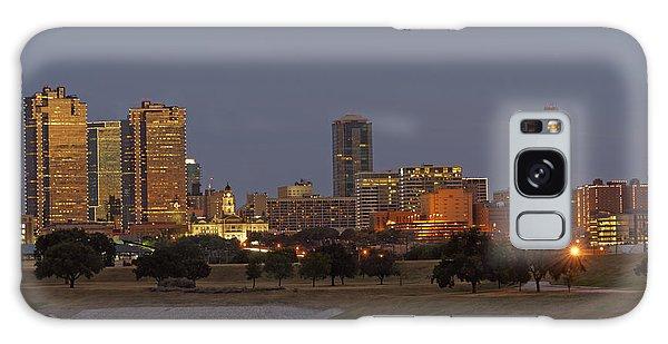 Fort Worth Skyline Golden Hour Galaxy Case