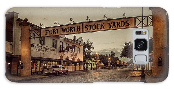 Galaxy Case featuring the photograph Fort Worth Stockyards by Joan Carroll