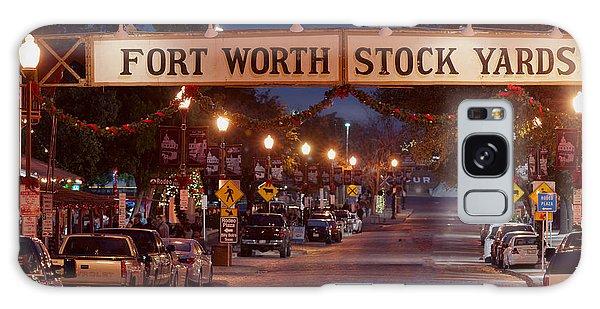Fort Worth Stock Yards Night Galaxy Case