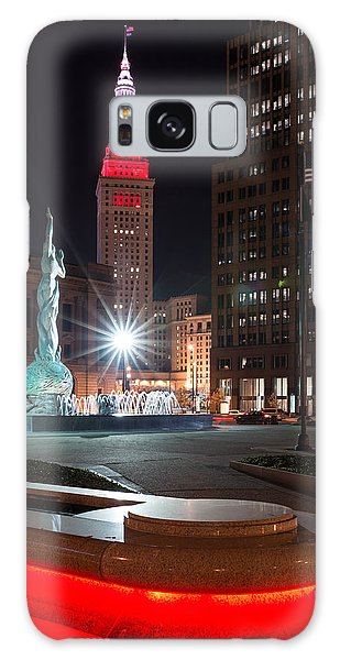 Fountain And Terminal Tower In Red Galaxy Case