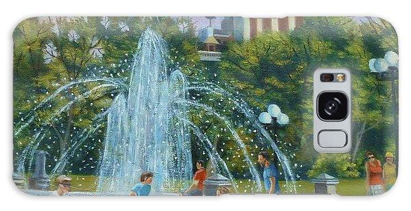 Fountain At Washington Square Park New York Galaxy Case