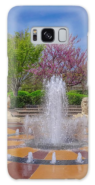 Fountain In Coolidge Park Galaxy Case
