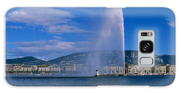 Lake Geneva Galaxy Case - Fountain In Front Of Buildings, Jet by Panoramic Images
