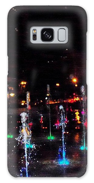 Fountains At City Garden Galaxy Case by Kelly Awad