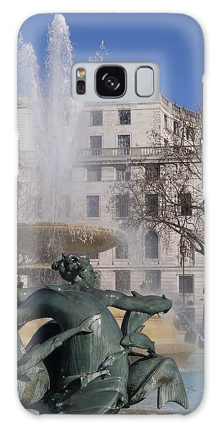 Fountains In Trafalgar Square Galaxy Case