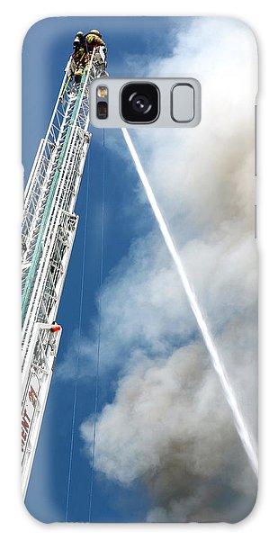 Four Alarm Blaze 001 Galaxy Case by Lon Casler Bixby
