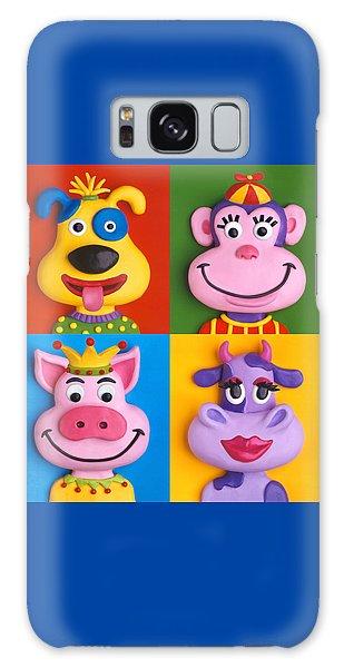 Four Animal Faces Galaxy Case