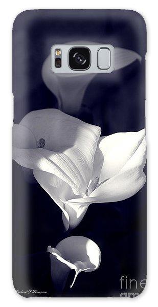 Four Calla Lilies In Shade Galaxy Case